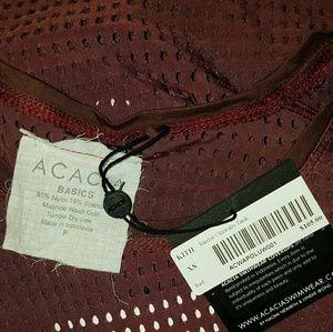 acacia swimwear Tops - Acacia swimwear merlot maroon olowalu mesh tank XS